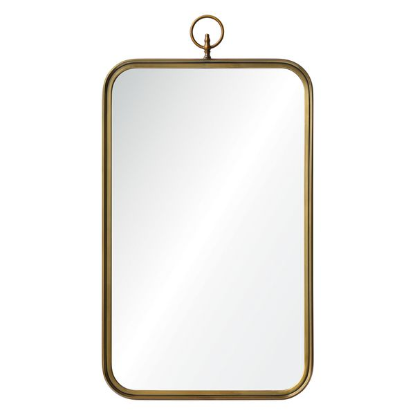 This Classic Victorian Mirror Features A Handsome Brass Finish The Stately Piece Is Sure To Add Style And Grandeur Any Room In Your Home