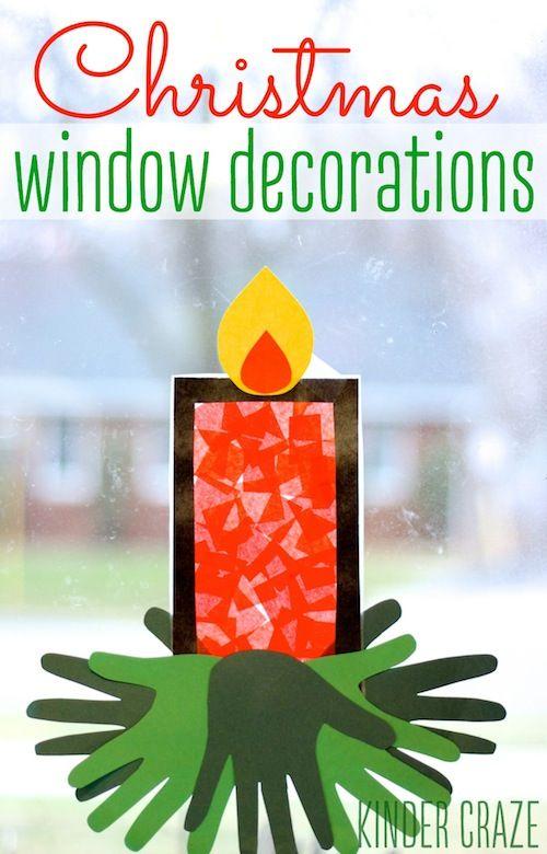 Advent window decoration tutorial #crafts #kids #advent #christmas