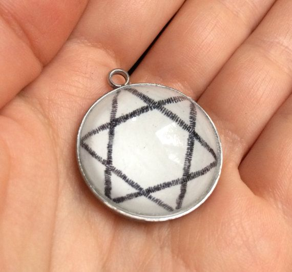 Star of David necklace Star pendant Symbol necklace by IceWorks