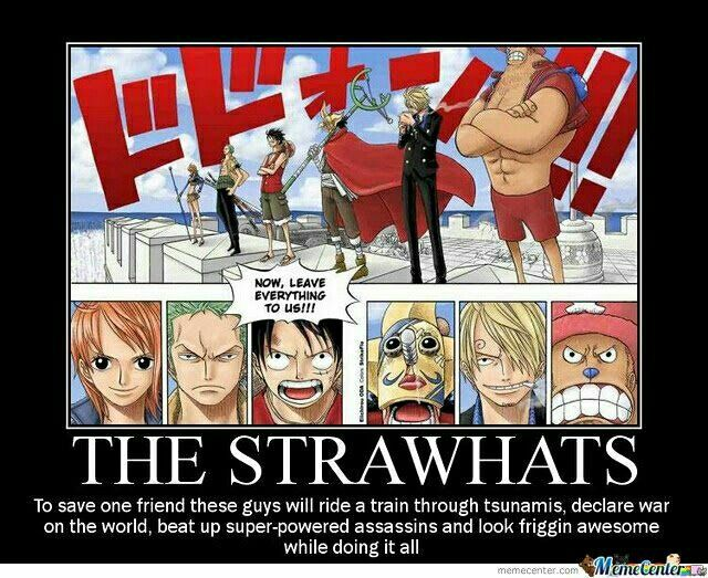 Straw hat Pirates rescuing Robin...