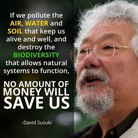 David Suzuki speaks about overpopulation
