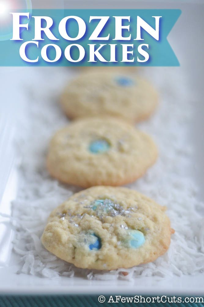 Frozen Cookies-- yay movie party time! This the next movie on the list do I am looking for great ideas. Will probably leave out the coconut