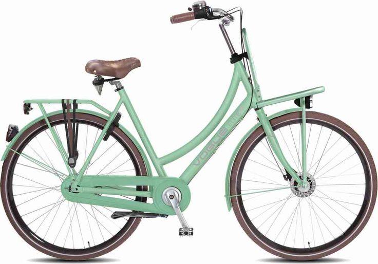 Vogue Elite Plus 28 Zoll Aluminium 7 Gang Freilauf Hollandrad mint-grün mit Fronträger
