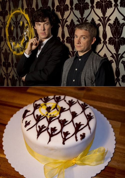 Sherlock cake!  I'm so having this for my next celebration in which a cake is called for.