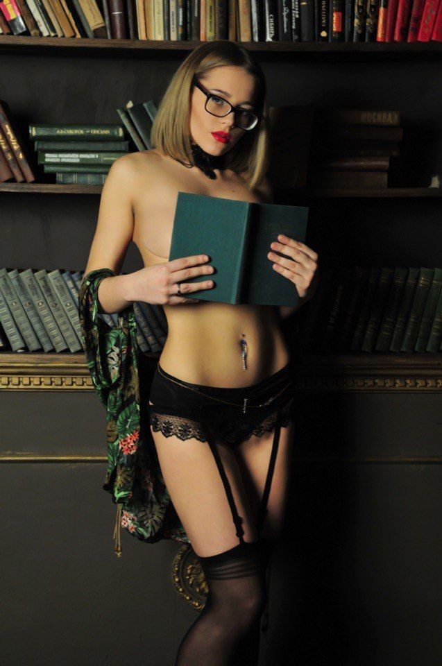 geeky girls glasses nude