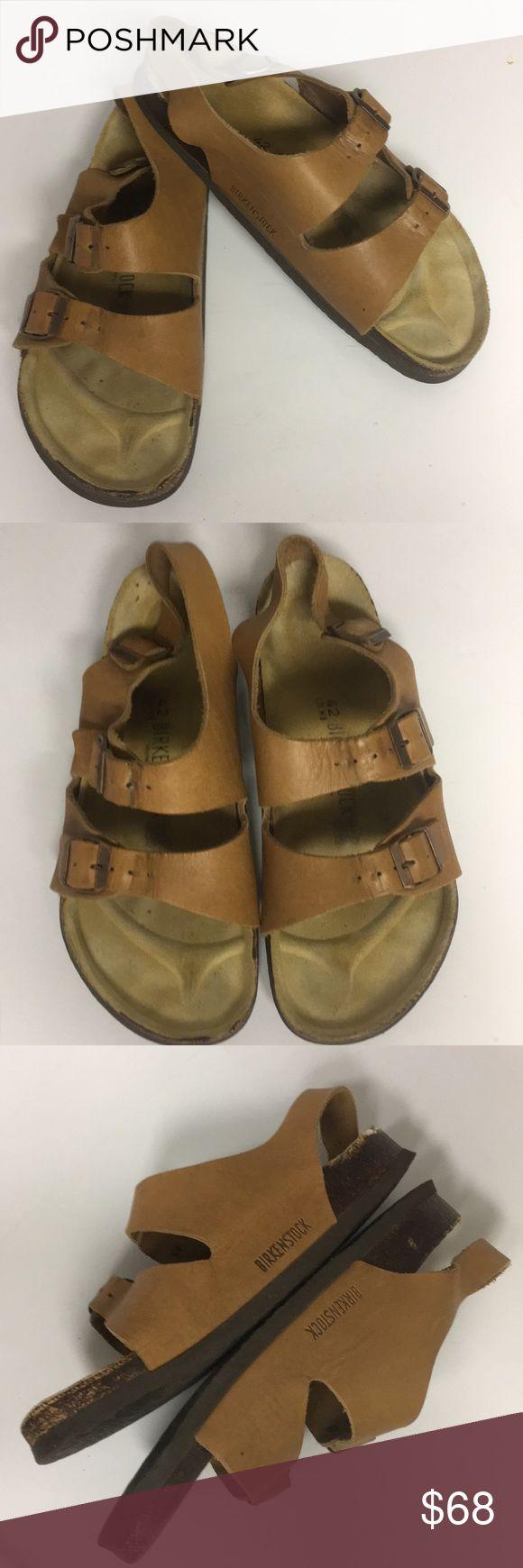 Birkenstock Tan Milano Leather Heel Strap Sandals Birkenstock Tan Milano Leather Heel Strap Sandals. The heel insole is separating a little bit in the back-please see image for details. Birkenstock Shoes Sandals & Flip-Flops #tansandalsheels
