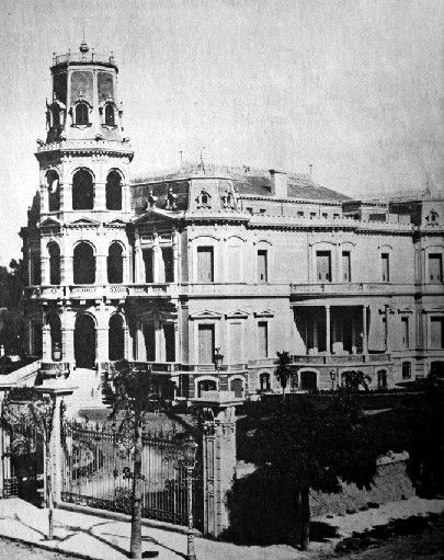 "Palais ""Miralfores"" from the family of Ortiz Basualdo-Dorrego in Buenos Aires, 1880, times of splendour for Argentina."
