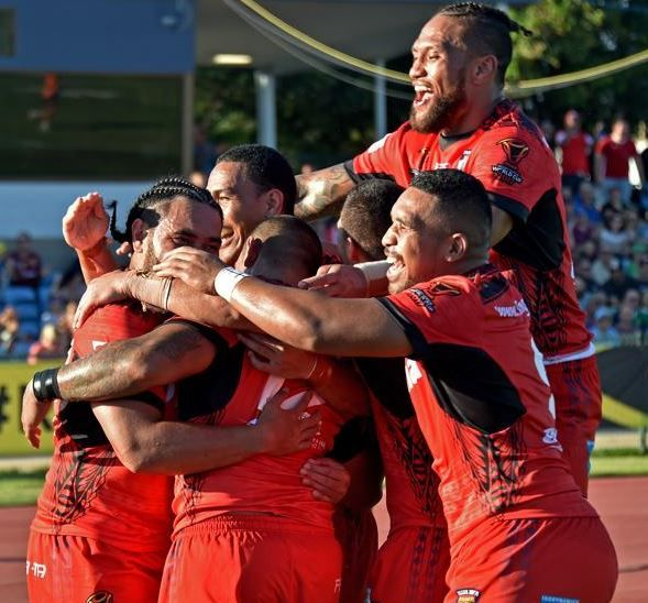 Rugby League World Cup in Aus - NZ & PNG - FOX SPORTS NRL (@FOXNRLLive) | Twitter - Oct. 29 2017 - FULL TIME: Tonga 50 beat Scotland 4.