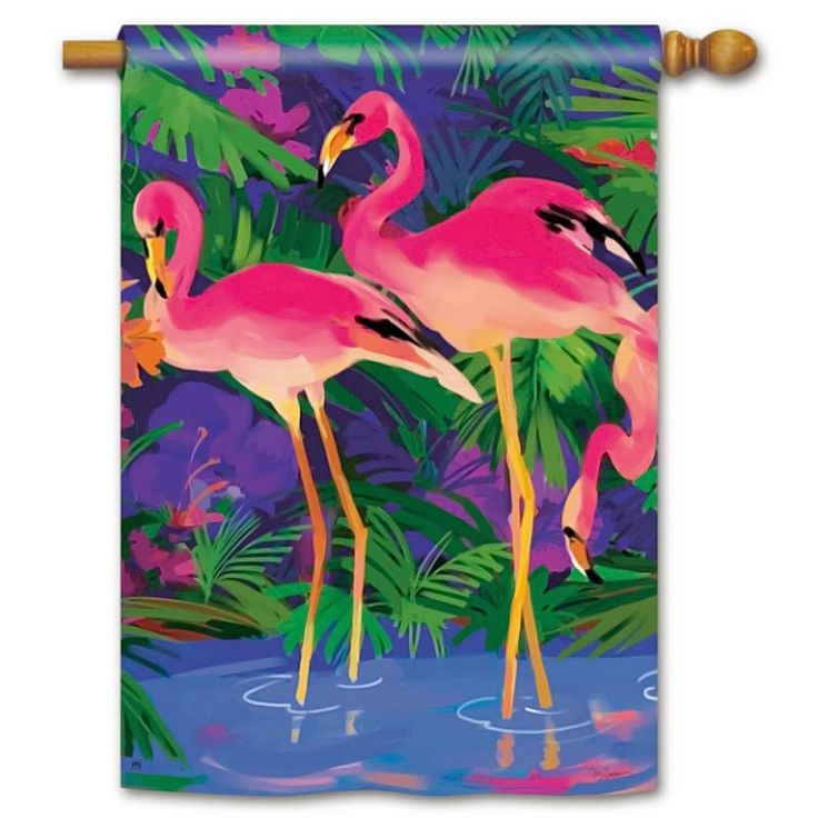 TropicalBreezeDecor - Happy Pink Flamingos House Flag 96057, $21.99 (http://tropicalbreezedecor.com/happy-pink-flamingos-house-flag-96057/)