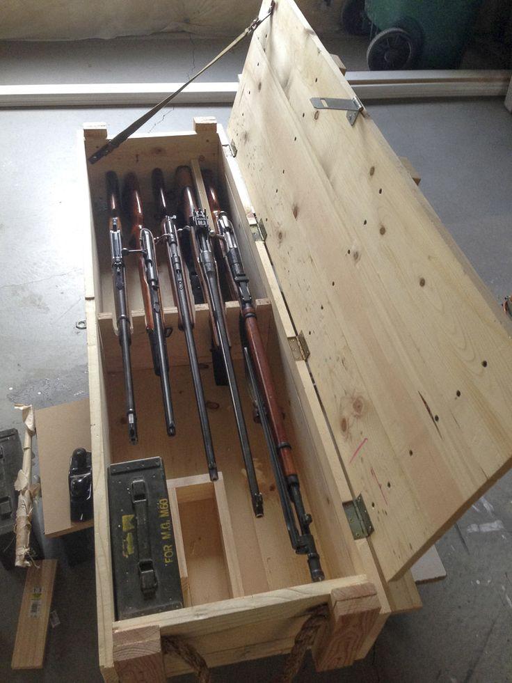 homemade gun chest  Garage Workshop DIY ideas  Rifle