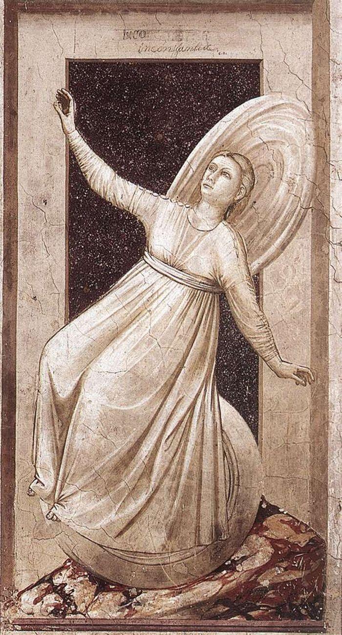 Inconstancy, The Seven Vices, 1306, Cappella Scrovegni, Padua, Giotto di Bondone (1267-1337)