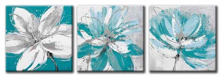 Cuadros abstractos en color turquesa buscar con google Decoracion de interiores con cuadros abstractos