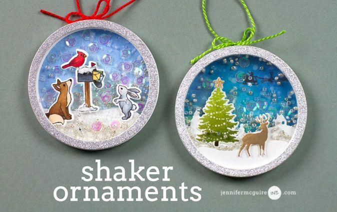 Shaker Ornament Video by Jennifer McGuire Ink