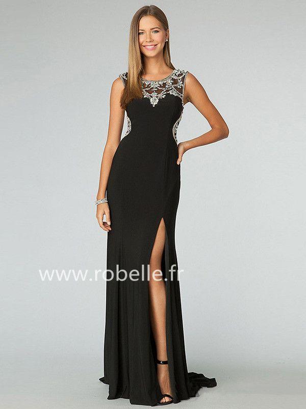 magnifique robe de bal longue fourreau col bateau robes de bal pinterest. Black Bedroom Furniture Sets. Home Design Ideas