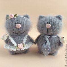 Купить Свадебные киски. - серый, свадебные коты, подарок на свадьбу, коты и кошки, киска, котенок