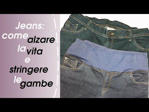 Come Modificare Vita E Gambe-Jeans (Alzare La Vita E Stringere Le Gambe) Pt.1 - YouTube