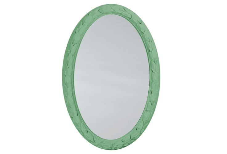 Laurel Leaf Oval Mirror >> Really a wonderful mirror for hall, entry, bath or shop!