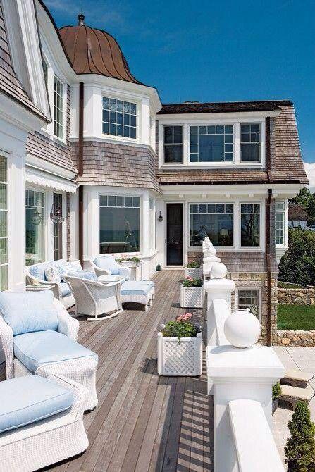 South Hampton style,Beach home,exterior, balcony