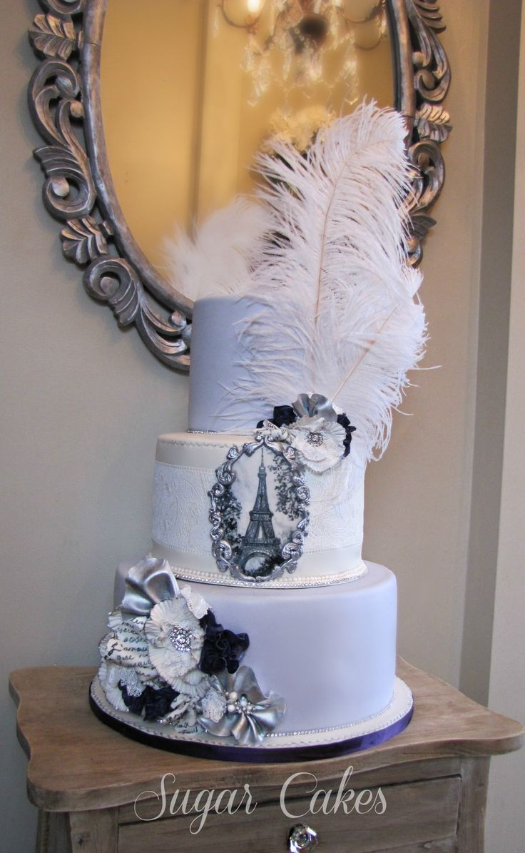 Paris,vintage brooches, lace+ feathers! Check out more of my work on Facebook https://www.facebook.com/pages/Sugar-Cakes/367383859948590