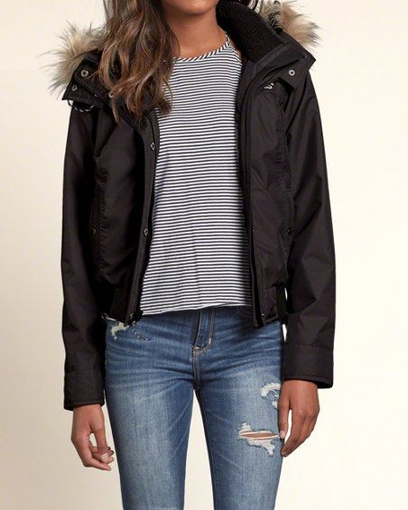 hollister all weather bomber jacket online window. Black Bedroom Furniture Sets. Home Design Ideas
