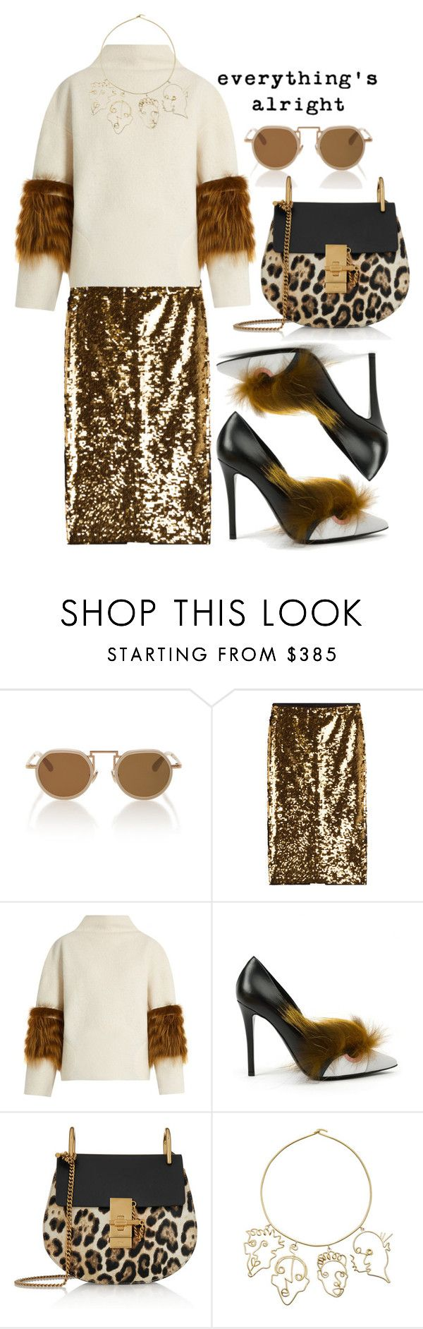 """""""Everything"""" by cherieaustin ❤ liked on Polyvore featuring Mes Demoiselles..., Saks Potts, Fendi and Chloé"""