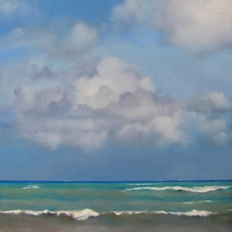 Sky and Ocean, painting by artist Oriana Kacicek