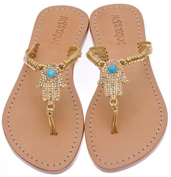 1b6b8f4d4d3d Beaded Sandals  Mystique Sandals Hamsa