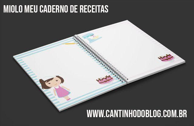 Capa E Miolo Digital Para Caderno De Receitas Gratis Para Baixar