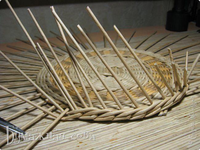 Поделка изделие Плетение Снова шкатулка Трубочки бумажные фото 8