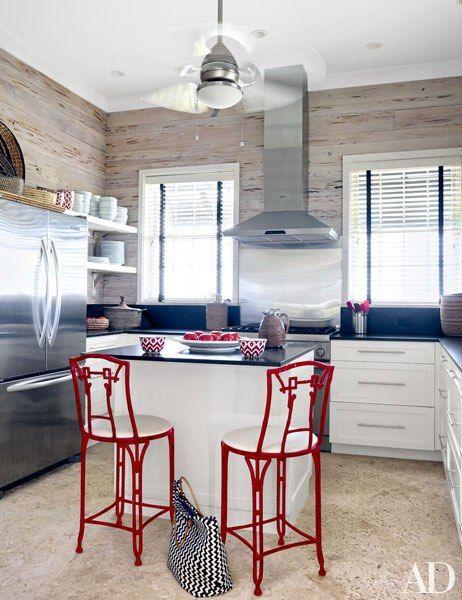 The kitchen in interior designer Alessandra Branca's chic Bahamas getaway