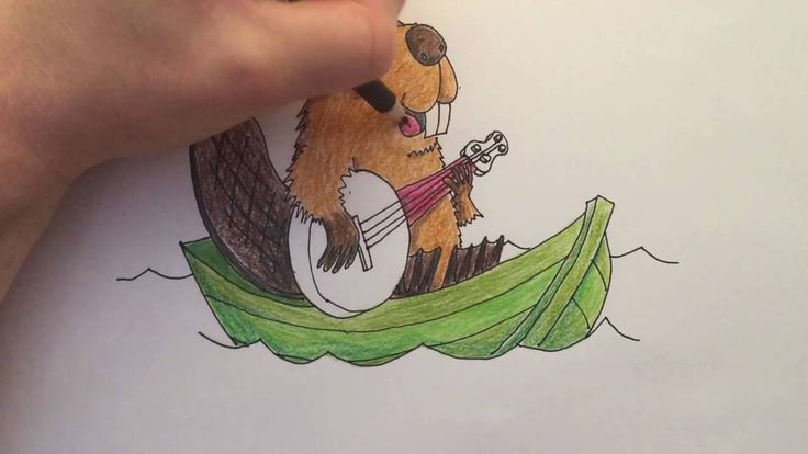 Watch me draw a Beaver playing the Banjo on a Boat, words that start with the letter B. Then download the free printable colouring page below and color it in yourself!