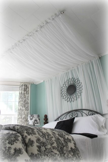 Canopy Made with Curtains - from http://iamthatlady.com