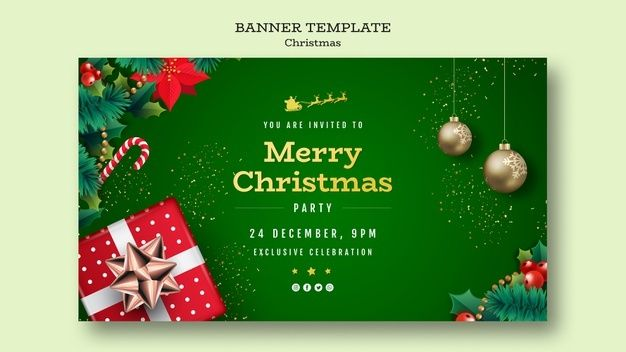 Download Christmas Party Banner Template For Free Party Banner Template Christmas Party Invitation Template Christmas Powerpoint Template