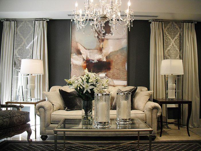Interior design trends: Dark walls. Ethan Allen living rooms.