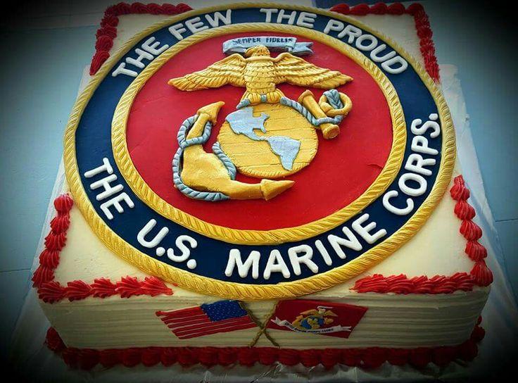 United States Marine Corps Semper Fi cake                              …
