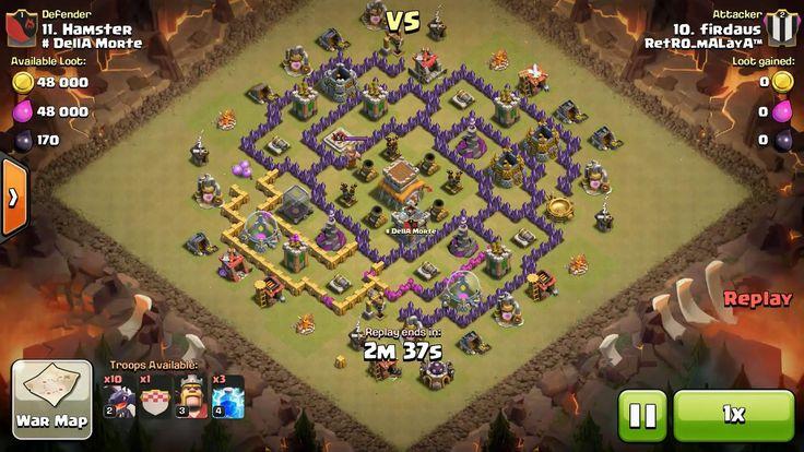 Attacker TH8: 10 Level 2 Dragon, 1 Level 3 Dragon, Level 3 Barbarian King, 3 Level 4 Lightning Spell Defender TH8: Level 5 Barbarian King, Rank 11/20
