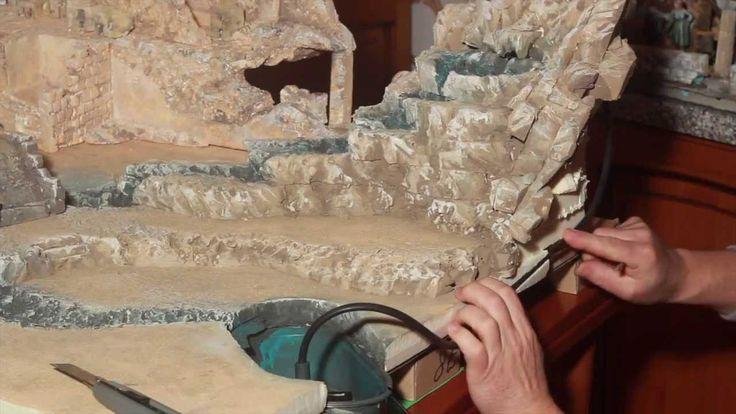 Come montare cascata con motorino e acqua del presepe - Parte12