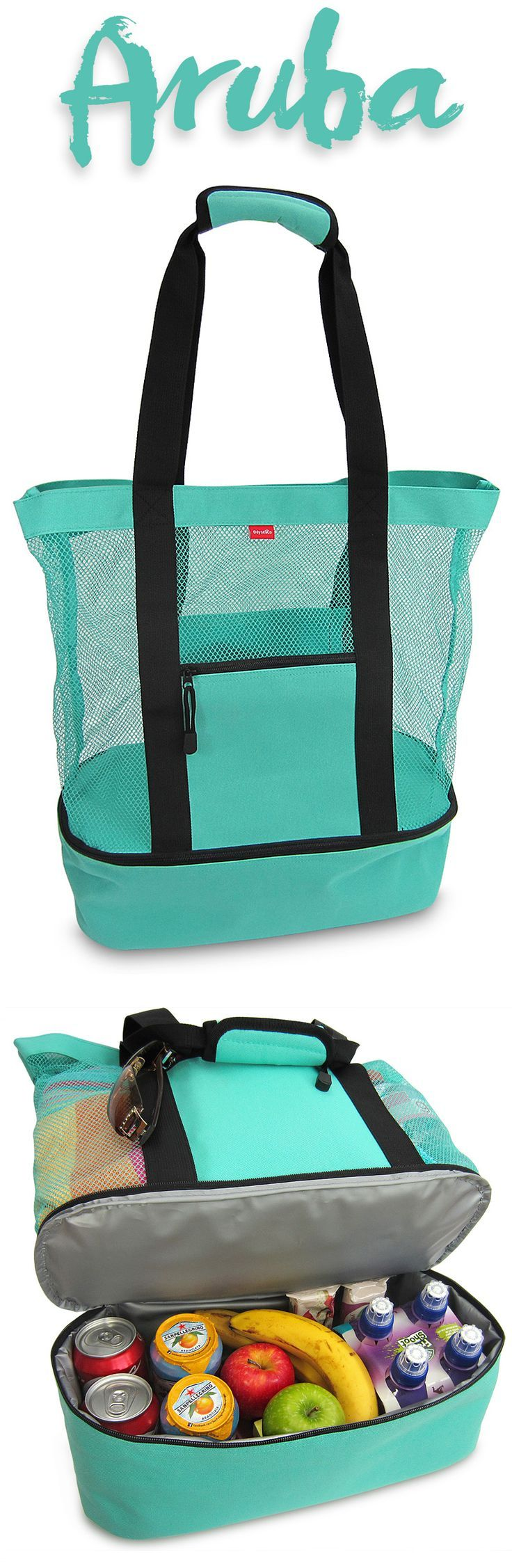 Love the Aruba Mesh Beach Bag Cooler from OdyseaCo - the perfect turquoise summer essential for beach or pool, it makes a great bag for festivals and concerts too!  :)  http://www.amazon.com/Aruba-Beach-Insulated-Picnic-Cooler/dp/B00VV7GPMS #beachlife - shop & bag, bag accessories, hand bag *ad