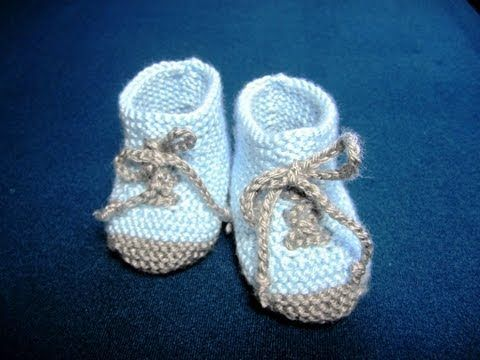 How to Knit Baby Booties Shoes Part - 3 - YouTube