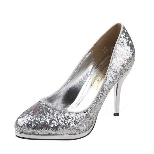Zapatos - $36.25 - De mujer Salón Cerrados Tacones Tacón stilettos Brillo Chispeante Zapatos (1625101857)
