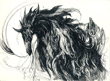 イメージ0 - 20120318_黒い馬の画像 - ぴぴこブログ 【昨日と同じ】 - Yahoo!ブログ