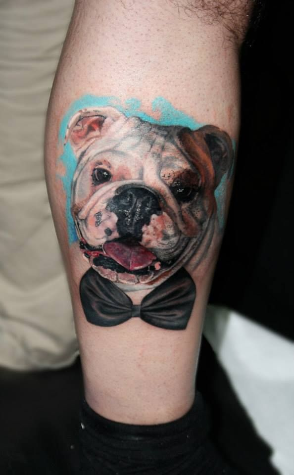 cute bulldog tattoo