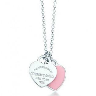 Tiffany Double Heart Necklace.