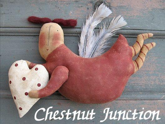 Angel Of Love EPATTERN...primitive valentine cloth doll craft digital download sewing pattern...PDF...1.99