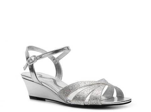 Silver Wedge Sandal | DSW