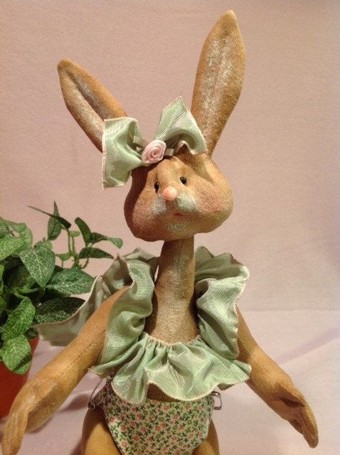 Cloth Doll E-Pattern 12 inch Baby Girl Bunny by FruitfullHands