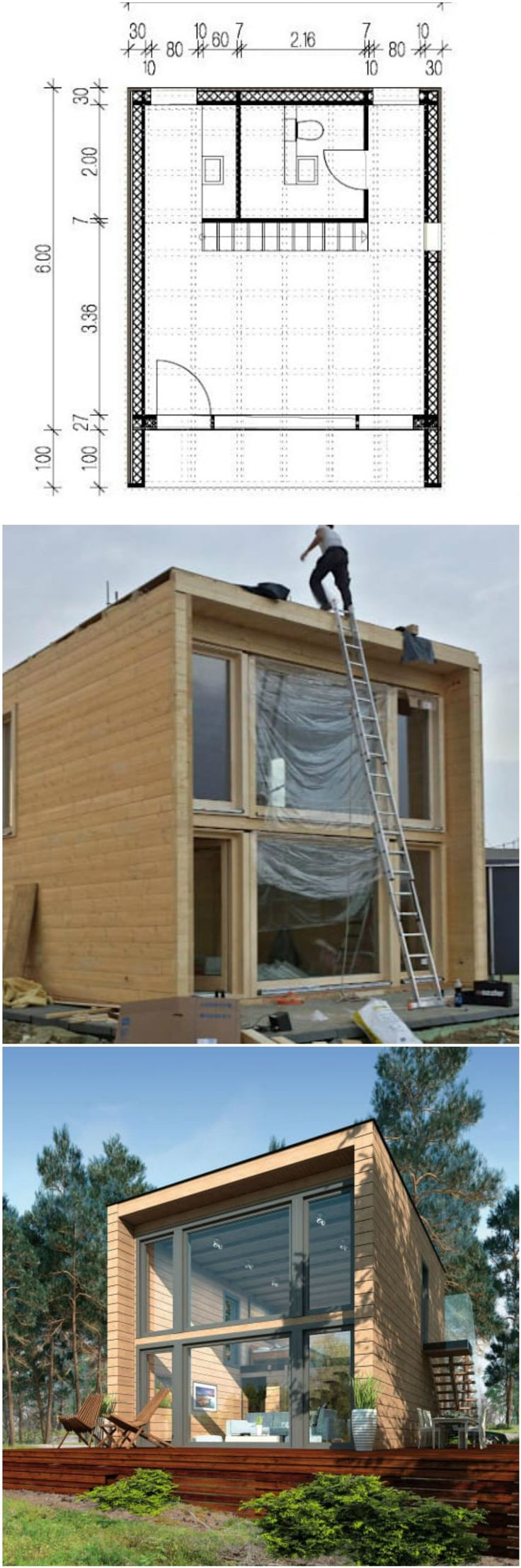 Compact, cheap but completely cool modular design is well-represented in the pre-fabricated 'kubu' house by Germany's THULE Blockhaus.   Modular architecture is totally a la mode these days, with prefabricated house designs popping up as popular options elsewhere in the homify network for those looking for affordable architectural solutions and contemporary cargotecture (shipping container architecture—a novel form of eco-friendly prefabricated architecture) that boasts great good looks on
