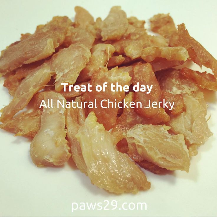 Treat of the day -All Natural Chicken Jerky-cooked for my furry paws:)