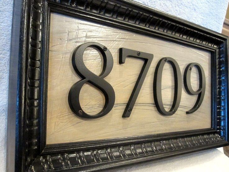 17 best ideas about house numbers on pinterest diy house - House number plaque ideas ...