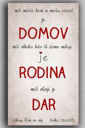 Obraz, originální poděkování rodičům / Zboží prodejce dílnička | Fler.cz